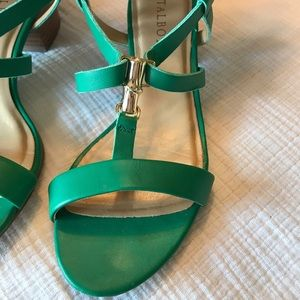 Talbots ~ Teal Leather Strap Sandals